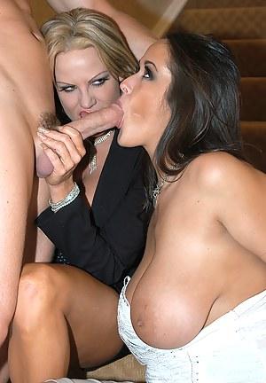 Hot Mature Double Blowjob Porn Pictures