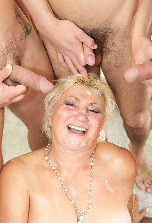 Hot Cum on Mature Tits Porn Pictures